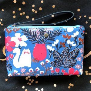 Kate Spade Double Zip Jae Garden Cat Wristlet